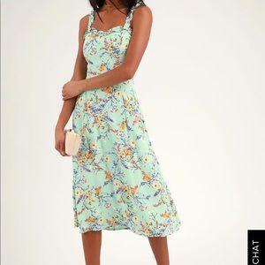 Sunny Meadow Sage Green Dress